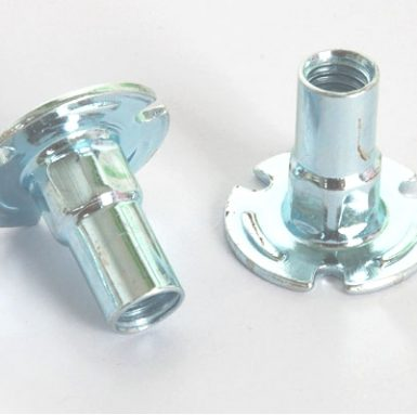 Pallemøtrik af carbonstål zink hvid